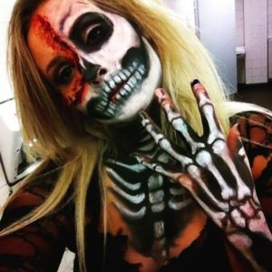 Skeleton Makeup Body Art Fake Blood
