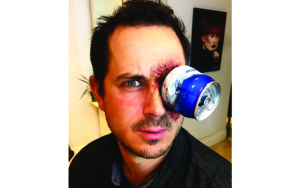Crushed Beer Can Special Fx Makeup Halloween Costume
