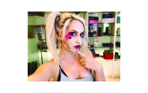 Harlequin Halloween Costume Makeup