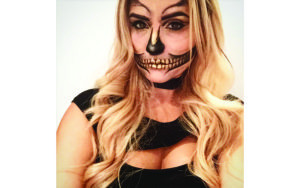 Gold Skeleton Makeup Halloween Costume Makeup