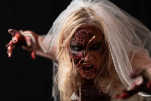 Zombie Bride Makeup Halloween Special FX Blood