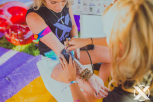 Toronto Music Festival Airbrush Tattoo Body Art
