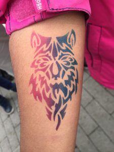 Wolf Colour Airbrush Tattoo Body Art Toronto Makeup