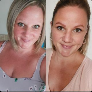 Client selfie! Before & After Microblading   Loving this transformation ♥️  Available to book online  www.BBeauty.ca   #microblading #amherstburgontario #amherstburgbrows #amherstburgmicroblading #windsorbrows #windsormicroblading