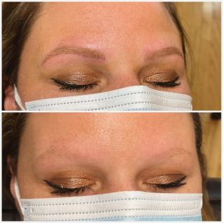 Microblading before & after   Eyebrows do so much for the face. Check out this transformation. First appointment. Free consultations.   Available to book online  www.BBeauty.ca   #microblading #windsormicroblading #amherstburgmicroblading #amherstburhontario #amherstburgbrows #windsorbrows